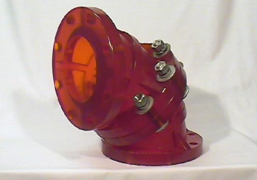 Custom Polyurethane 2-Piece Pipe Elbow